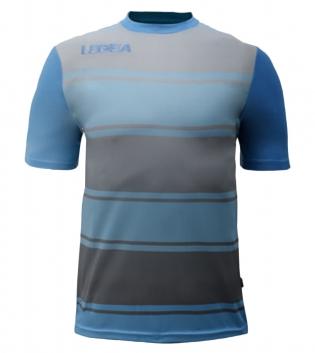 Maglia Uomo Sport Calcio LEGEA Lubecca Abbigliamento Sportivo GIOSAL-Celeste-Grigio-S
