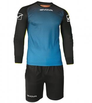 Kit Calcio Sport Manchester Portiere GIVOVA Sportivo Uomo Maniche Lunghe GIOSAL-Celeste/Nero-3XS