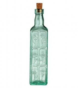 Bottiglia Fiori Country Home 50cl Vetro Verde Tappo Sughero Bormioli Rocco GIOSAL