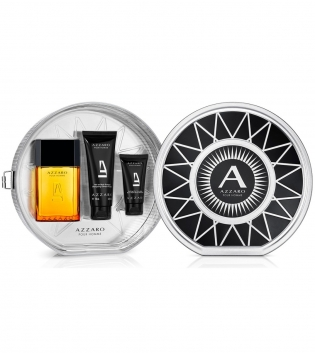 Coffret Azzaro Puour Homme Eau de Toilette 100ml + Shower Gel 100ml + After Shave Balm 50ml GIOSAL