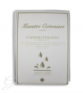 Coprimaterasso Maestri Cotonieri Protector Impermeabile Antiacaro 1,5 Piazze 130x195cm GIOSAL