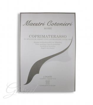 Coprimaterasso Maestri Cotonieri Spugna Jersey Stretch Matrimoniale Maxi 200x200cm GIOSAL