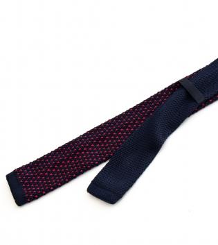Cravatta Maglina Uomo Tricot Cravattino Maglia Fantasia Ricamo Blu Rosso GIOSAL