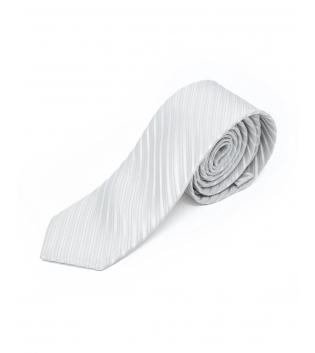 Cravatta Uomo Fantasia a Righe Bianco Elegante Accessori GIOSAL