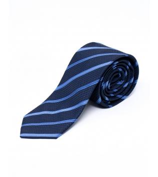 Cravatta Uomo Elegante Fantasia Corda a Righe Blu Celeste GIOSAL