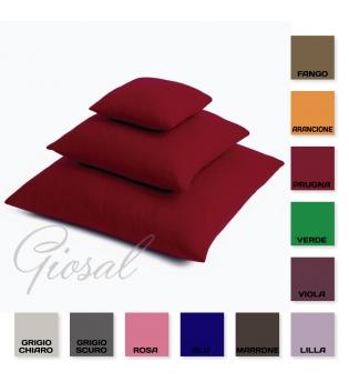 Cuscino Arredo 70x70 Morbido Vari Colori Tinta Unita 100% Cotone GIOSAL-Marrone-70X70