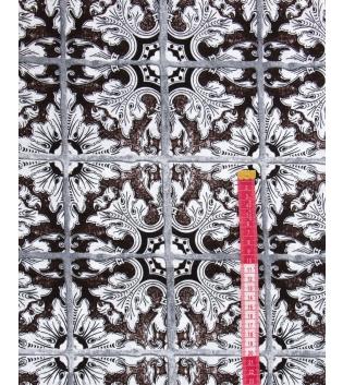Tessuto Arredo Casa Cotone Fantasia Floreale Quadri Marrone Vari Colori Scampolo Al Metro Tovaglia GIOSAL