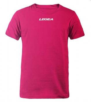 T-Shirt Basic Legea Girocollo Logo Sport Uomo Bambino BOX 10 PEZZI GIOSAL-Fucsia-XS