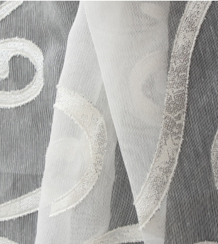 Tessuto Per Tenda Gaston Decoro Bianco Tendaggi Arredo Casa Pannello Telo GIOSAL