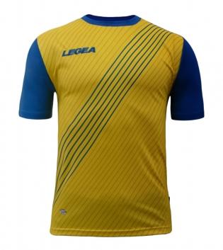 Maglia Uomo Sport Calcio Cadice LEGEA Abbigliamento Sportivo Uomo Bambino GIOSAL-Giallo-Azzurro-S