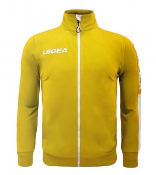 Felpa Uomo California Full Zip Abbigliamento LEGEA Sportivo Uomo Bambino GIOSAL-Giallo-Bianco-3XS