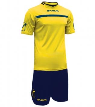 Kit One Calcio GIVOVA Uomo Sport Uomo Bambino Abbigliamento Sportivo Calcistico GIOSAL-Giallo/Blu-3XS
