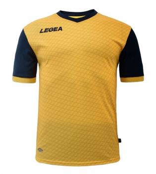 Maglia Calcio Sport LEGEA Narbona Abbigliamento Calcistico Sportivo GIOSAL-Giallo-Blu-S