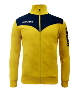 Felpa LEGEA Peru Full Zip Abbigliamento Sportivo Uomo Bambino GIOSAL-Giallo-Blu-3XS