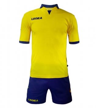 Kit Uomo Calcio Sport LEGEA Outsider Uomo Bambino Squadra Calcetto GIOSAL-Giallo-Blu-S