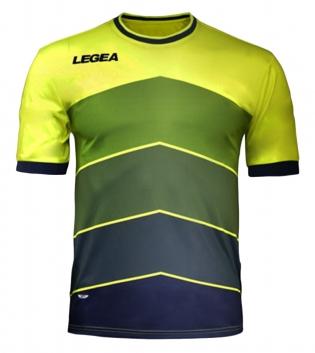 Maglia LEGEA Calcio Sport Assen Abbigliamento Sportivo Calcistico GIOSAL-GialloFluo-Blu-M