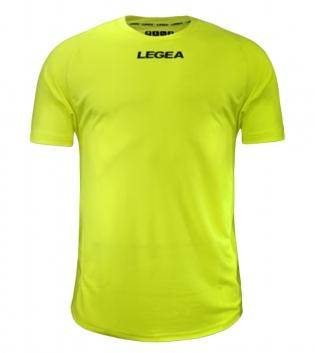 Maglia Calcio Sport LEGEA Crimea Abbigliamento Uomo Bambino Sportivo Calcistico GIOSAL-Giallo Fluo-2XS