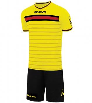 Kit Skill Calcio Sport GIVOVA Abbigliamento Sportivo Uomo Calcistico GIOSAL-Giallo/Nero-XL