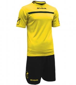 Kit One Calcio GIVOVA Uomo Sport Uomo Bambino Abbigliamento Sportivo Calcistico GIOSAL-Giallo/Nero-2XS