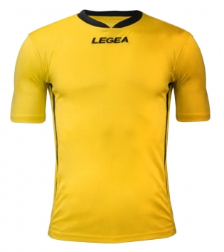 Maglia Uomo Calcio LEGEA Dusseldorf Manica Corta BOX 10 PEZZI Uomo Bambino GIOSAL-Giallo-Nero-3XS