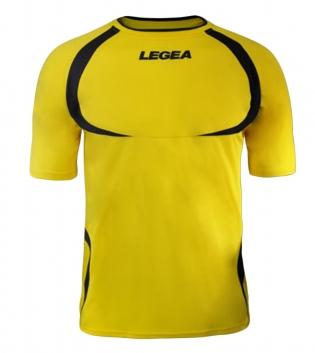 Maglia Uomo Calcio Sport LEGEA Taipei Abbigliamento Uomo Bambino Sportivo Calcistico GIOSAL-Giallo-Blu-XS