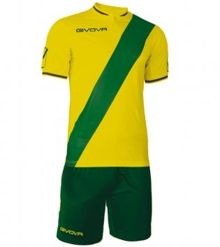 Kit Plate Calcio Sport GIVOVA Abbigliamento Sportivo Calcistico Uomo GIOSAL-Giallo-Verde-M