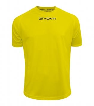 Maglia Calcio Sport GIVOVA One T-Shirt Uomo Donna Bambino Maglietta Abbigliamento Sportivo GIOSAL-Giallo-4XS