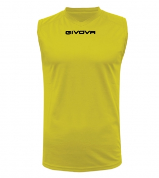 New Shirt Smanicato Givova One Uomo Stampa Tinta Unita Sport GIOSAL-Giallo-S