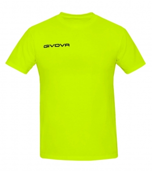 T-Shirt Fresh GIVOVA Uomo Donna Bambino Unisex Free Time Comfort Relax Sport GIOSAL-Giallo Fluo-3XS