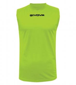 New Shirt Smanicato Givova One Uomo Stampa Tinta Unita Sport GIOSAL-Giallo Fluo-S