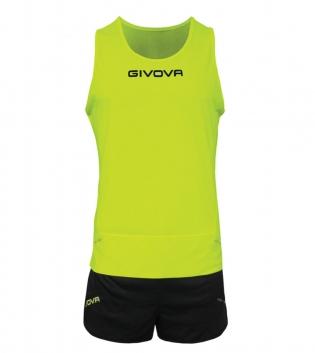 Kit New York GIVOVA Unisex Uomo Donna Athletics Running Sport Sportivo GIOSAL-GialloFluo/Nero-XS