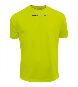 Maglia Calcio Sport GIVOVA One T-Shirt Uomo Donna Bambino Maglietta Abbigliamento Sportivo GIOSAL-Giallo Fluo-4XS