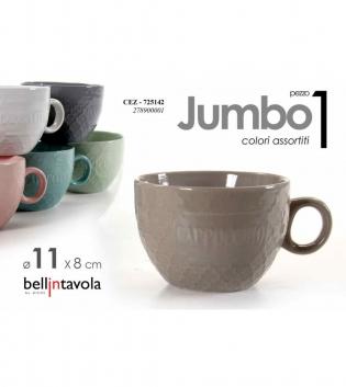 Tazza Jumbo 1 Pezzo Colori Assortiti Porcellana Bellintavola Da Colazione GIOSAL
