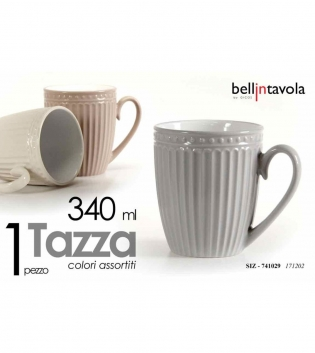 Tazza Latte Da Colazione Porcellana Bellintavola Colori Assortiti 340ml GIOSAL