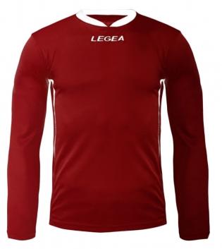 Maglia Uomo Calcio Sport LEGEA Dusseldorf Manica Lunga BOX 10 PEZZI Uomo Bambino GIOSAL-Granata-Bianco-3XS