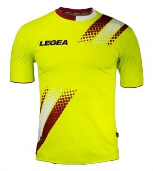 Maglia Uomo Calcio Sport LEGEA Salamanca Abbigliamento Sportivo Uomo Bambino GIOSAL-Granata-Bianco-S