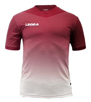 Maglia Sport Uomo Calcio LEGEA Bilbao Abbigliamento Sportivo Calcistico GIOSAL-Granata-Bianco-S