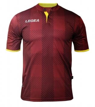 Maglia Uomo LEGEA Sport Calcio Oporto Abbigliamento Sportivo Calcistico Uomo Bambino GIOSAL-Granata-Giallo-S