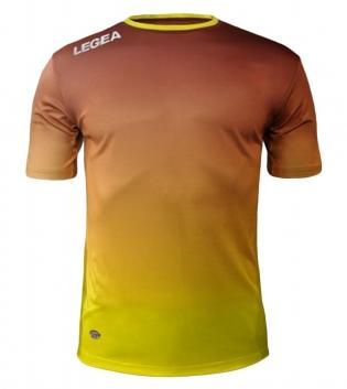 Maglia Calcio Sport LEGEA Nizza Abbigliamento Sportivo Uomo GIOSAL-Granata-Giallo-S
