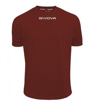 Maglia Calcio Sport GIVOVA One T-Shirt Uomo Donna Bambino Maglietta Abbigliamento Sportivo GIOSAL-Granata-4XS