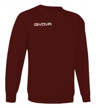 New Maglia Girocollo Givova One Uomo Donna Bambino Sport Relax Unisex GIOSAL-Granata-3XS