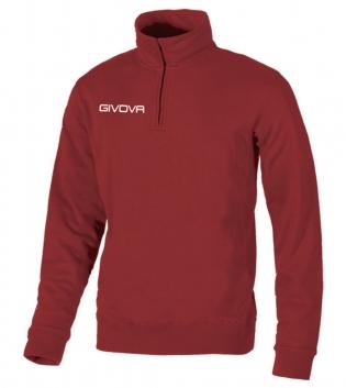 New Maglia Tecnica GIVOVA Half Zip Uomo Donna Bambino Unisex Sport Relax GIOSAL-Granata-S