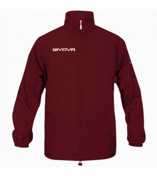 Giacca Jacket GIVOVA Rain Basic Anti Pioggia Uomo Donna Bambino Giubbotto Sport GIOSAL-Granata-3XS