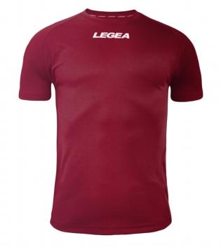 Maglia Uomo Sport Calcio LEGEA Lipsia Abbigliamento Sportivo Calcistico Bambino Uomo GIOSAL-Granata-3XS
