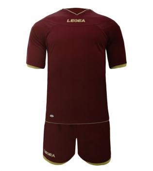 Kit Uomo LEGEA Calcio Completo Sport Uomo Bambino Calcetto Per Squadre GIOSAL-Granata-XL