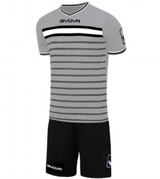 Kit Skill Calcio Sport GIVOVA Abbigliamento Sportivo Uomo Calcistico GIOSAL-GrigioChiaro-Nero-XL