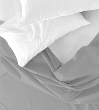 Lenzuolo Sopra Maestri Cotonieri Matrimoniale 250x290cm Cotone Tinta Unita Vari Colori GIOSAL-Grigio Chiaro
