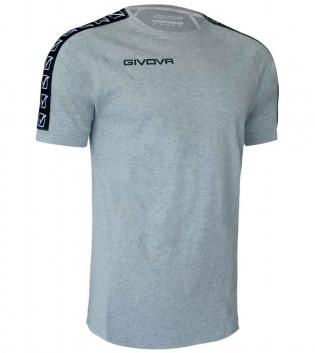 T-Shirt Uomo GIVOVA Sport Cotton Band Uomo Donna Bambino Bande Laterali GIOSAL-GrigioMelange-XS