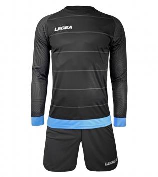 Kit Calcio Sport LEGEA Portiere Calderon Sportivo Abbigliamento Calcetto GIOSAL-GrigioScuro-Celeste-3XS