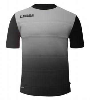 Maglia Uomo Sport Calcio LEGEA Lubecca Abbigliamento Sportivo GIOSAL-GrigioScuro-Nero-S